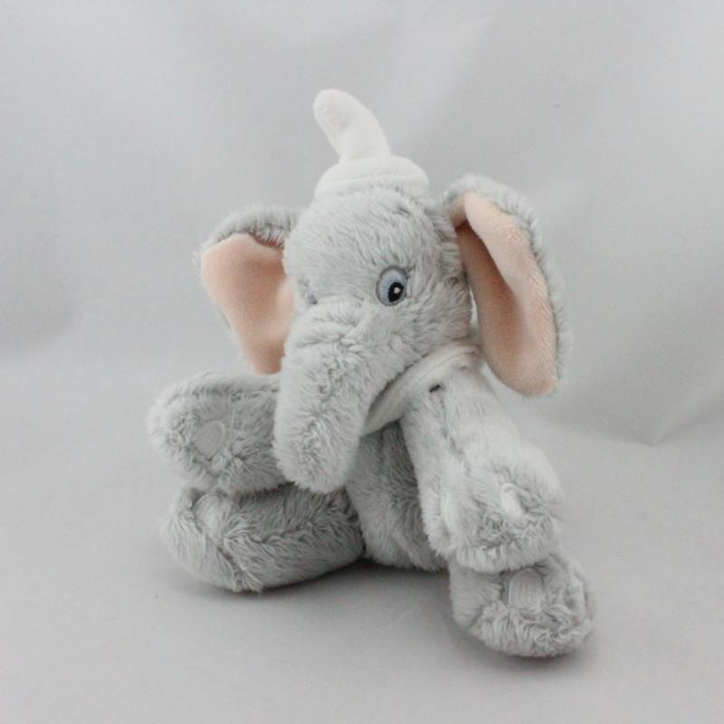 Doudou éléphant gris Dumbo col blanc DISNEY STORE