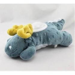 Doudou veilleuse dragon bleu jaune Victor et Lucien NOUKIE'S