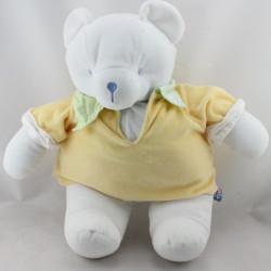 Doudou range pyjama ours blanc jaune vert SUCRE D'ORGE