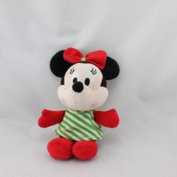 Petit Doudou Minnie rouge rayé vert DISNEY NICOTOY