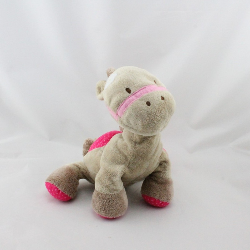 Doudou poney cheval beige rose JUST ONE YEAR CARTER'S