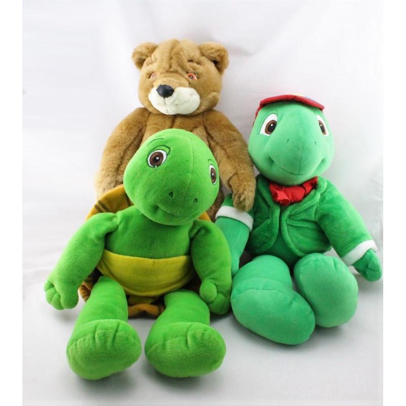 Peluche Franklin la tortue et Martin JEMINI