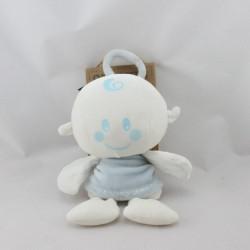 Doudou bébé ange bleu blanc ORCHESTRA
