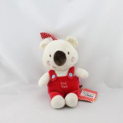 Doudou portachupette koala Osito rouge TUCTUC