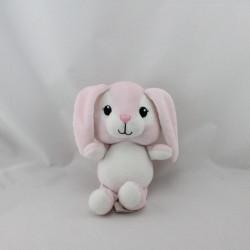 Doudou lapin rose blanc H ET M H.M H&M