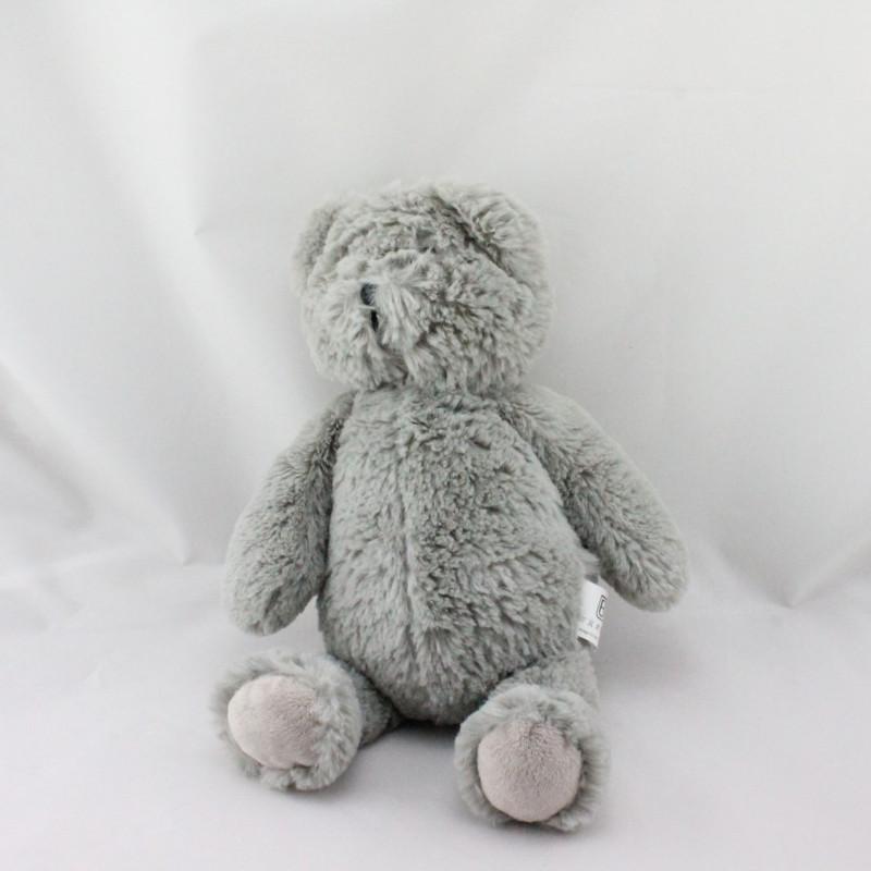 Doudou ours gris tout doux COTTON BLUE