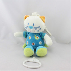Doudou musical chat bleu escargot NICOTOY