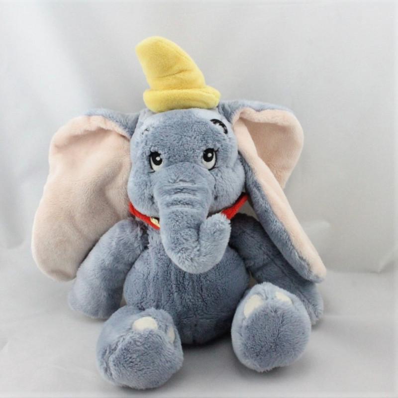 Doudou éléphant gris Dumbo col rouge DISNEY STORE