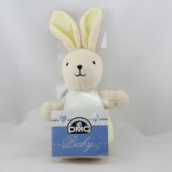 Doudou lapin jaune avec bavoir DMC