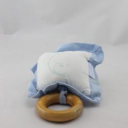 Doudou musical coussin blanc bleu KALOO