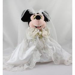 Peluche Minnie en robe de mariée DISNEYLAND