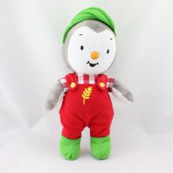 Doudou Tchoupi salopette rouge casquette verte JEMINI