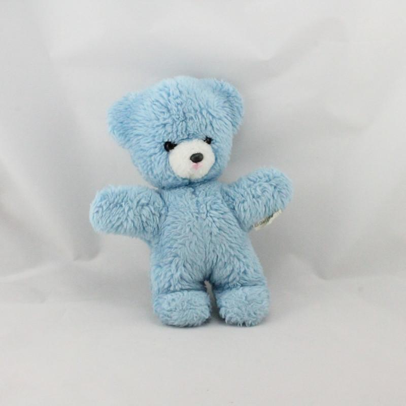Doudou Peluche ours bleu BOULGOM