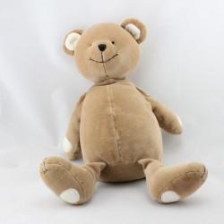 Doudou ours marron blanc OBAIBI