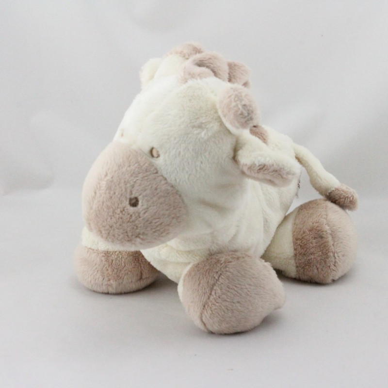 Doudou vache blanche beige GIPSY