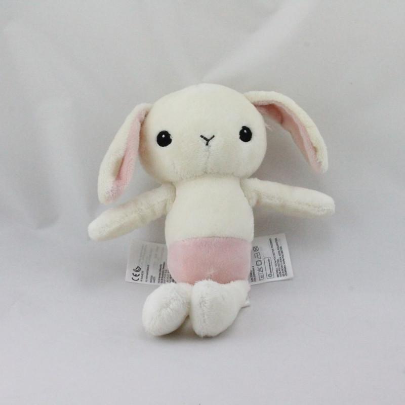 Doudou lapin blanc rose H ET M H.M H&M