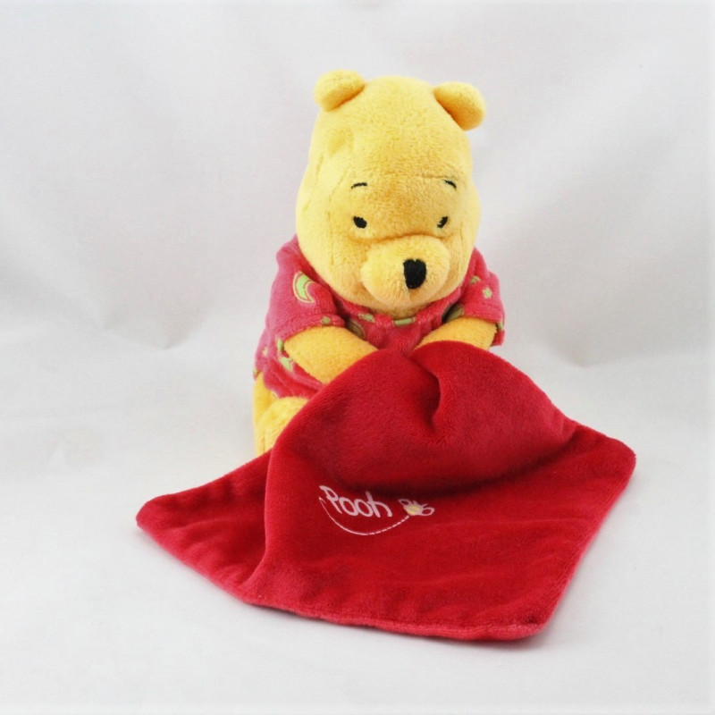 Doudou luminescent Winnie l'ourson mouchoir rouge DISNEY
