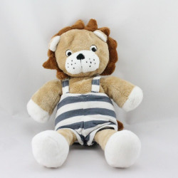 Doudou lion beige marron rayé bleu HM H ET M H&M