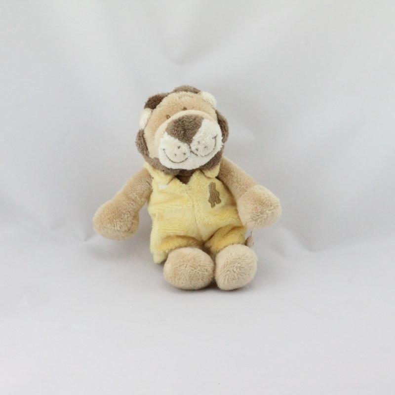 Doudou lion beige marron jaune BABOUM NOUKIE'S 25 cm