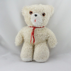 Ancienne peluche ours beige écru CHAMTI PAMPERS