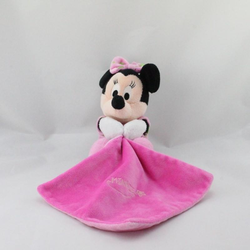 Doudou luminescent Minnie rose avec mouchoir Brille dans la nuit DISNEY