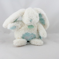 Doudou musical lapin Calins blanc bleu BABY NAT