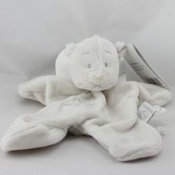 Doudou plat ours blanc Tonton étoiles NOUKIE'S