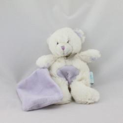 Doudou ours blanc mouchoir Baby nat