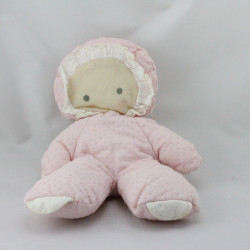 Ancienne poupée chiffon rose pois COROLLE