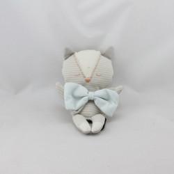 Doudou chat gris rayé noeud bleu BEBE CONFORT