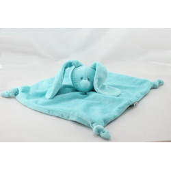 Doudou plat lapin bleu TIAMO COLLECTION