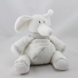 Doudou musical éléphant blanc gris Oscar J-LINE