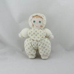 Ancienne poupée lutin Dollynette blanc cerises NOUNOURS