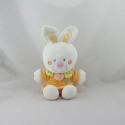 Doudou lapin blanc orange jaune abeille NICOTOY
