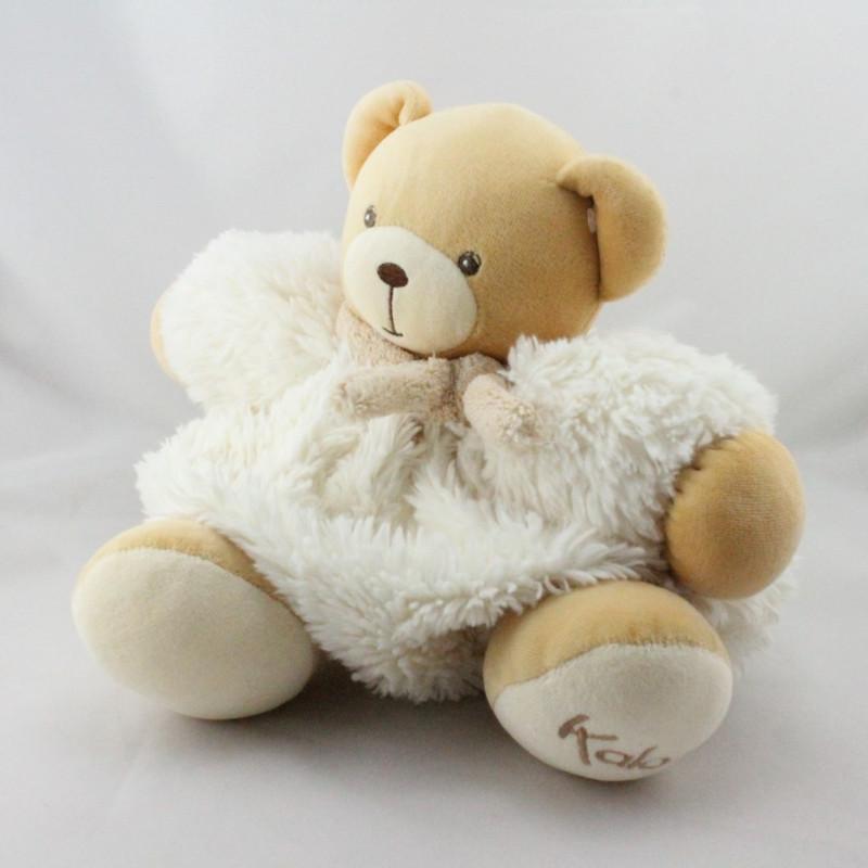 Doudou ours blanc beige fourrure Fur KALOO