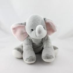 Doudou éléphant gris rose GIPSY