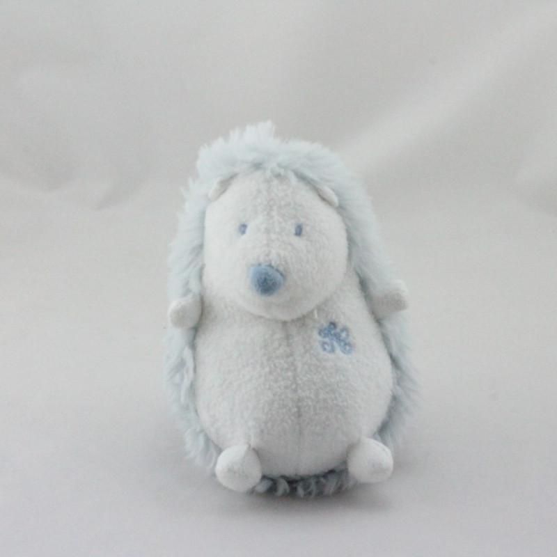 Doudou hérisson bleu blanc TARTINE ET CHOCOLAT
