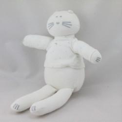 Doudou chat blanc étoiles PETIT BATEAU