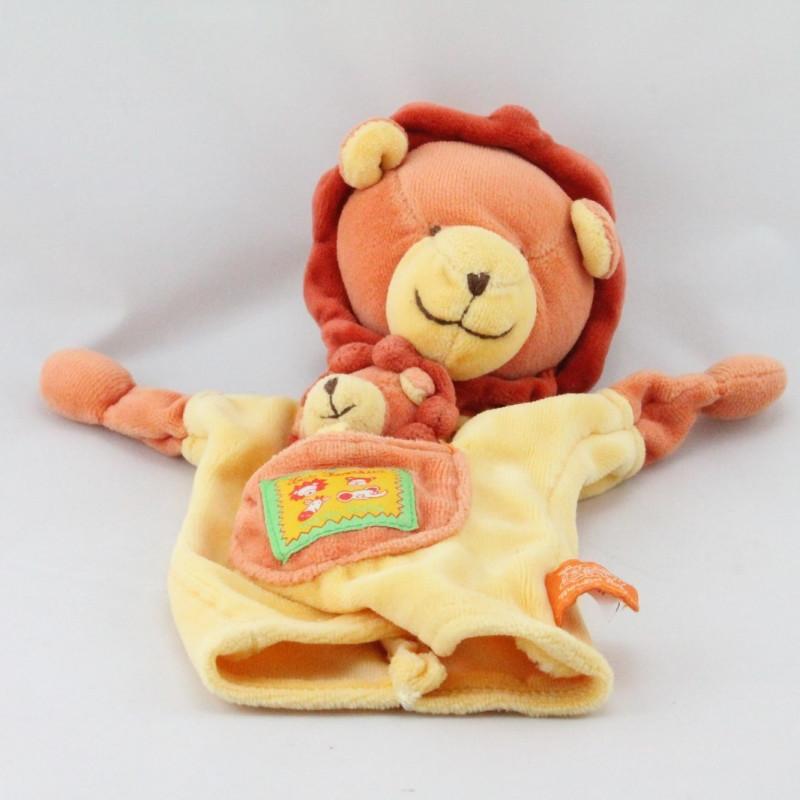 Doudou plat marionnette lion Loustics MOULIN ROTY