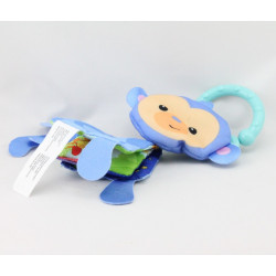 Doudou eveil singe bleu livre FISHER PRICE