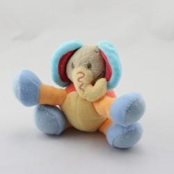 Doudou éléphant rose bleu vert orange NATTOU