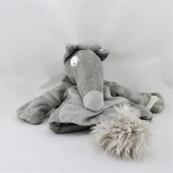 Doudou marionnette loup louve grise AUZOU