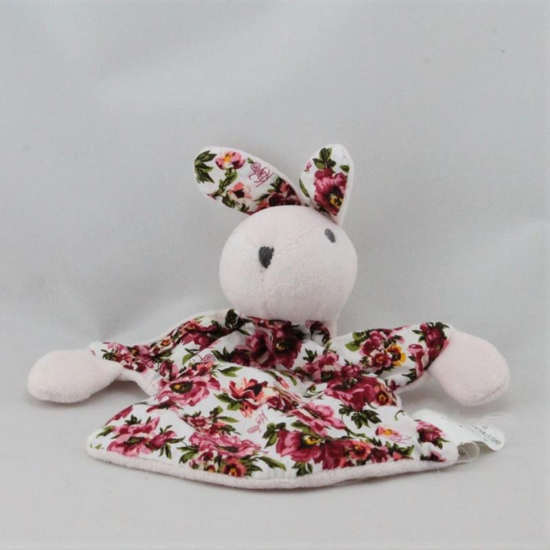 Doudou plat lapin rose fleurs KENZO