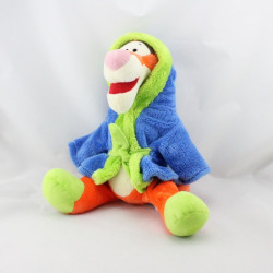 Peluche Tigrou en pyjama peignoir bleu vert DISNEY NICOTOY