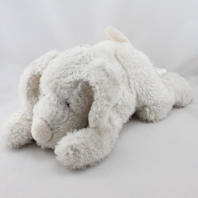 Doudou chien blanc Oscar J-LINE