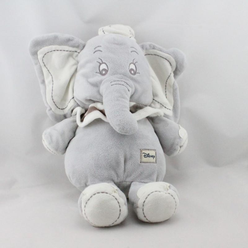 Doudou peluche Dumbo l'éléphant gris blanc DISNEY NICOTOY