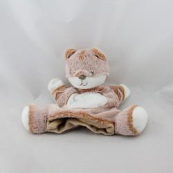 Doudou marionnette renard marron roux blanc TEX