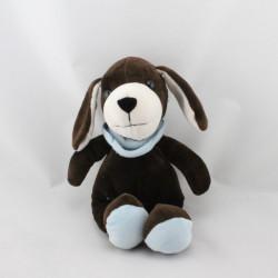 Doudou chien marron foulard bleu AJENA