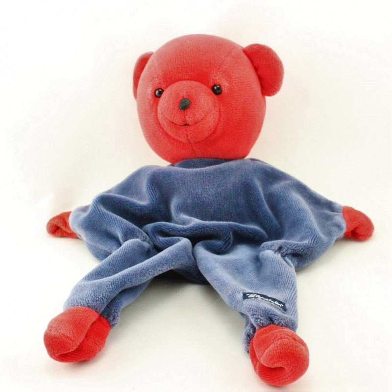 Doudou plat ours rouge bleu marine STERNTALER