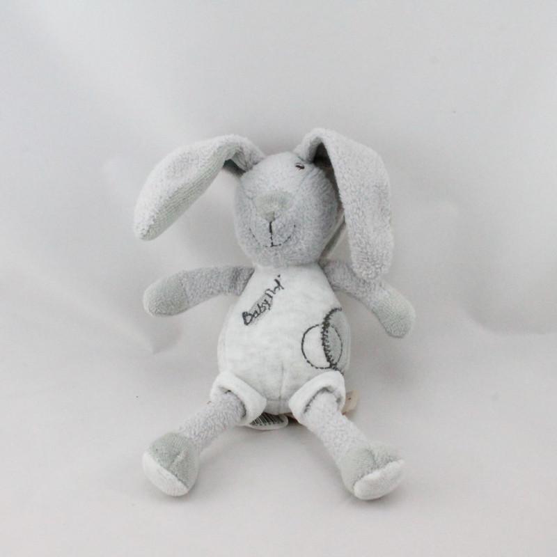 Doudou lapin gris attache tétine Baby nat